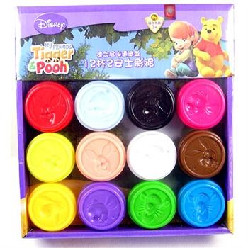 迪士尼/Disney 迪士尼DIY系列卡通造型彩泥 12杯2安士装