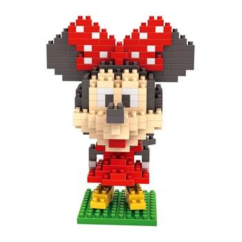 loz俐智迪士尼大头公仔系列(大盒)钻石米妮乐高式积木大头幼儿颗粒对积木的作用图片